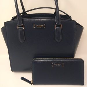 Kate Spade Medium Leather Sacthel and Wallet (NWT)